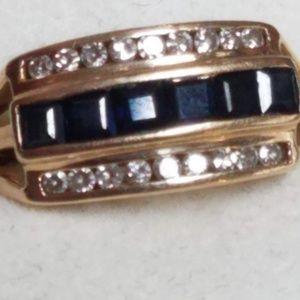"""SOLD""14 karat gold natul diamond natural Sapphire"
